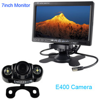"HD 7"" LCD car media Monitor DVD/VCD/GPS/TV dispaly Screen + E400 2LED car infrared rear view Camera Night Vision Parking"