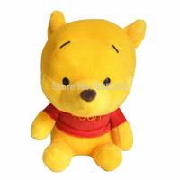 Disnep classical Stuffed Dolls 20cm Winnie Bear backpack pendants cute winnie plush toys for kids Free shipping