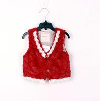 Girls lace vest , girls christmas vest , 5pcs/lot   FJP56