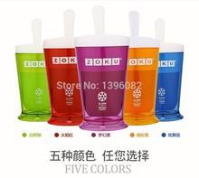 Zoku слякоть и встряхнуть чайник чаша делает мороженое включают глубокий круглый 5 цветов английский инструкция кухня инструмент