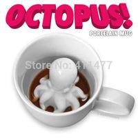 Hidden Octopus Squid Tentacles Surprise Ceramic Tea Coffee Mug 230ml Cephalopod