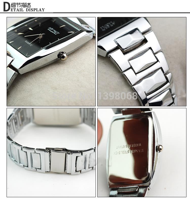 Hot Selling Fashion Classic square men full steel watch top grade men quartz watch business wristwatches