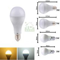 3W 5W 7W 9W 12W LED Light Bulb E27 Base AC110V 220V 230V 240V cool white warm white