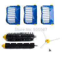 Aero Vac Filter + Brush 3 armed kit for iRobot Roomba 600 Series 620 630 650 660 free shipping