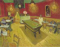 Original(Van gogh) Art print reproduction on canvas wall decor cafe in night