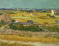 Original(Van gogh) Art print reproduction on canvas wall decor harvest