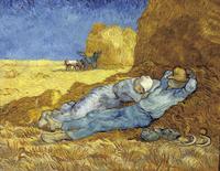 Original(Van gogh) Art print reproduction on canvas wall decor During the lunch break in farm
