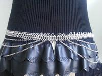 Punk Women Beauty Metal Belly Chain Waist Necklace Sticker Body Chains Harness Jewelry Dance