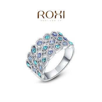 Roxi мода женщин ювелирные изделия класса люкс белый покрынная платина австрийский хрусталь