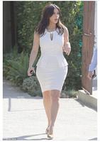 2014 New European and American Style The Women elegant Lotus leaf edges Sexy Slim Bandage Short Dress