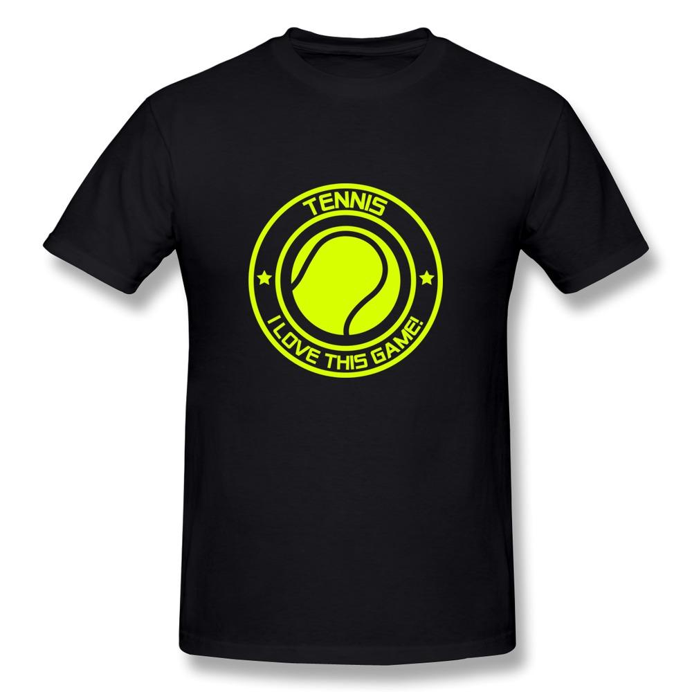 Regular T Shirt Men i love this game tennis f1 Custom Your Own Slim Fitted Man Tee Shirts(China (Mainland))