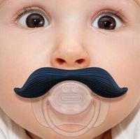 Free Shipping 1pcs High Quality Funny Infant Silicone Chill Mustache  Baby  Pacifier  HA0029