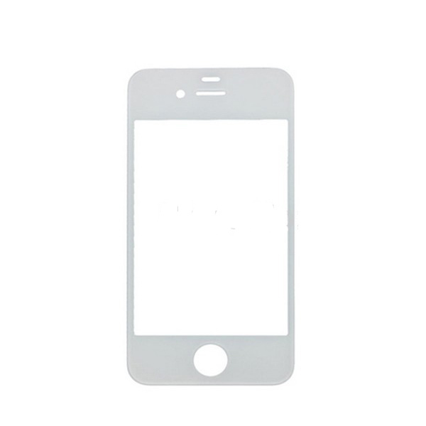 Free shipping WHITE front outer Glass lens parts FOR iphone 4 4s(China (Mainland))