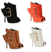 2014 New gz buckle sapatos peep toes high heels sexy women ankle boots heels shoes sandalias botas femininas autumn boot