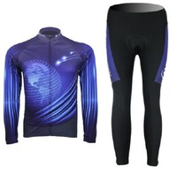 New arrival Winter Cycling Bike Bicycle Clothing Long Sleeve Jersey + Pants Sportwear Suit