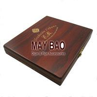 """MAYBAO 5.3"""" La Cubana Wood Cigar Humidor Cigar Case Wooden Cigar Box"""