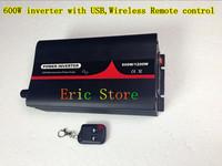 Hot selling!600W DC12V/24V/48V AC100W-120V/AC220V-240V off-grid,pure sine wave  with USB&Wireless remote control (CTP-600W-WS)