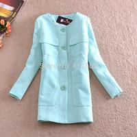 Free shipping U&Me new 2014 autumn and winter fashion plus size long elegant long-sleeve women casual blazer suit coat jacket