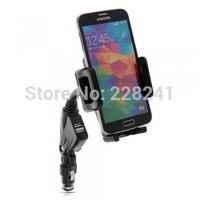 Dual USB Cigarette Lighter Car Mount Charger Holder for Universal Mobiles