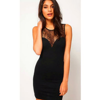 A free shipping Women New Lace Bodycon Sexy Slimming Sleeveless Dresses