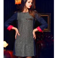A free shipping Women Modern Optical Contrast Celebrity Pencil Dress