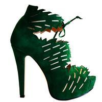 new 2014 fashion green cut out platform high heels sapatos femininos sapato summer sandals melissa shoes woman sandalias