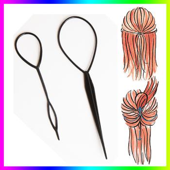 Chic Magic Верхsy Tail Hair Braid Ponytail Styling Maker Clip Tool Черный 2pcs Drop ...