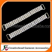 gold plated three row rhinestone bikini connector wholesale for free shipping