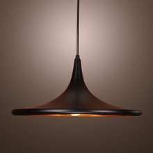Black Shade Modern LED Pendant Lights Lamp With 1 Light For Living Dinning Room Lighting