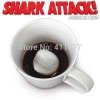 Shark Creature Attack Porcelain Tea Coffee Mug Gag Gift Joke Party Humor Prank Shark Mug