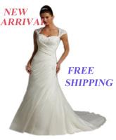 E15 sexy bride romantic custom made lace mermaid wedding dress dresses train bridal gown plus size vestido de noiva 2014