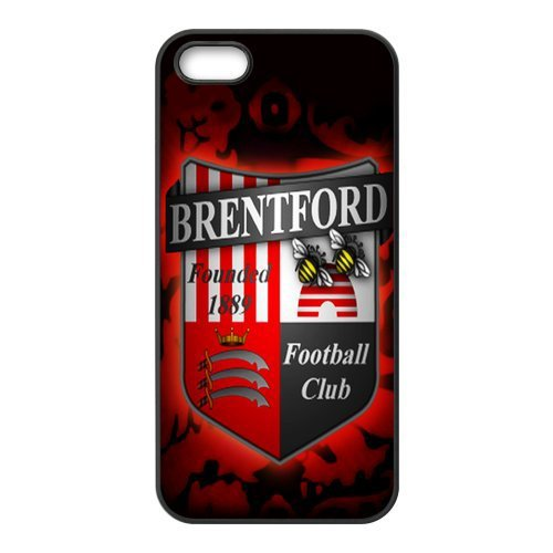 Free shipping Football League Championship Team Brentford Logo Hard plastic cell phones case For Iphone5 5s 5G(China (Mainland))