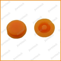 free shipping silion rubber  key button pads for mercedes car keys yellow color