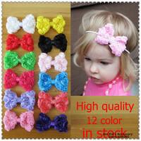8cm Rose Chiffon Bowknot Flower For baby Headband,Children Grils Flower Hair Accessories,Kids DIY Hair Bows,TH042+Free Shipping