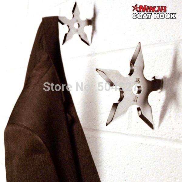 Free Shipping 1Piece Ninja Throwing Death Star Coat Hook / Ninja Star Coat Hook(China (Mainland))