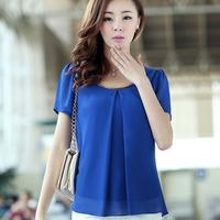 2014 Autumn Summer Roupas Blusas Brand Plus Size Blusas Free Shipping Women Chiffon Blouse Sem Mangas Leisure Shirt XXXL 4XL