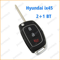 free shipping hyundai IX45 flip remote key covers wholesale car keys blanks custom 3 buttons