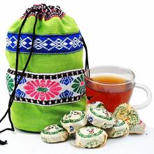 Top grade Free Shipping 50 pcs Chinese Yunnan Puer Tea Ripe Puer Tea Gift Bags