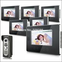 "2014 New Top Fashion free Shipping Video Doorphone & 7"" TFT LCD Indoor Monitor & Video Intercom System XSL-V70T-M2 1*6"