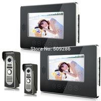 "2014 New Top Fashion free Shipping Video Doorphone & 7"" TFT LCD Indoor Monitor & Video Intercom System XSL-V70T-M2 2*2"