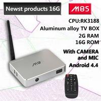 Quad Core Android TV Box M8S RK3188 2G/16G Android 4.4 Kikat Bluetooth xbmc  Camera  Mic external antenna smart tv