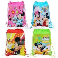 1Piece Mickey & Minnie Kids Drawstring Backpack ,children cartoon printing school backpack bags,school bag,mochila kids school