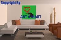 2014 HOT Bansy Love Rat Canvas Prints CA013