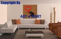 2014 HOT Bansy Love Rat Canvas Prints CA014
