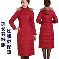 New 2014 Brand Warm Winter Duck Down&coats Parkas Women Plus Size S-XXXL Long Jackets Thicken With Natural Raccoon Fur Collars!