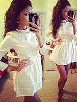 Gagaopt 2014 New Arrive high quality popular stand women one-piece dress