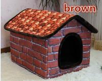 Free Shipping Vintage brick steeple room kennel Large dogs pet nest Satsuma husky dog house, 2 color S