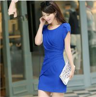 2014 ol elegant plus size clothing slim hip dress step slim one-piece dress female