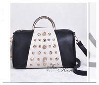 2014 New Women Leather Handbags Rivet Bag Women Shoulder Bag Women Messenger Bags Women Handbag Totes Bags KB402