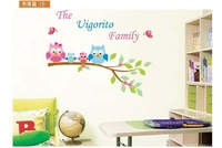 Free Shipping the vigorito family owl Wall Sticker Wall Mural Home Decor Room Kids JM8295